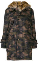Equipe '70 camouflage print parka