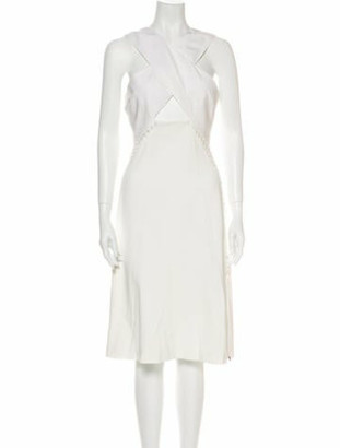 Jonathan Simkhai Halterneck Knee-Length Dress White