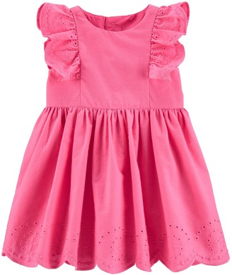 Carter's Baby Girl Embroidered Floral Poplin Dress