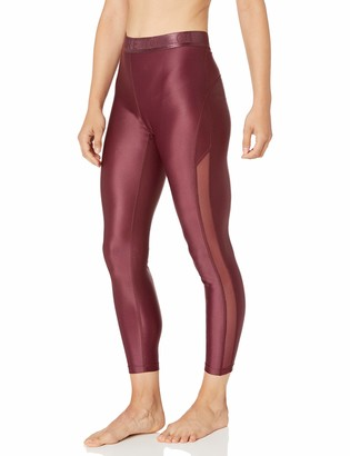 Core 10 Amazon Brand Women's Icon Series 'Liquid Shine' Mesh High Waist Yoga Legging-26""
