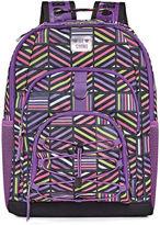 Asstd National Brand Purple Geometric Backpack