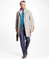 Brooks Brothers Single-Breasted Mini Check Trench Coat