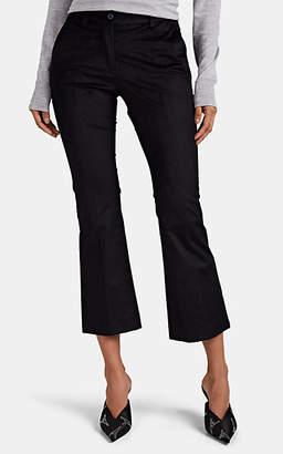 Pt01 Women's Jaine Corduroy Crop Flared Trousers - Black