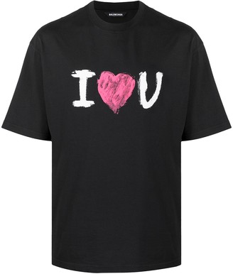 Balenciaga I Love You print T-shirt