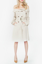 Sugar Lips Off Shoulder Trench Coat