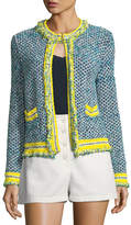 M Missoni Fringed-Trim Tweed Jacket