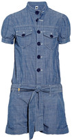 Cotton-chambray playsuit