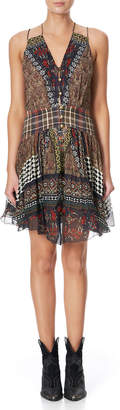 Camilla Strappy Printed Dress with Shaped Waistband