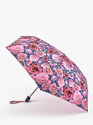 Fulton Powder Rose Print Telescope Umbrella, Multi