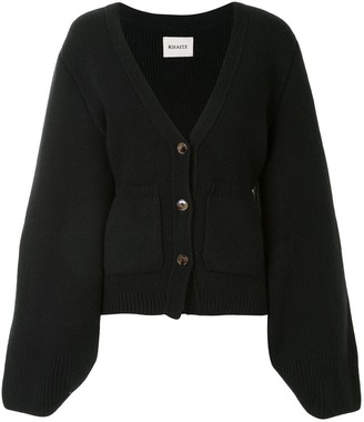 KHAITE Buttoned Wide-Sleeves Cardigan