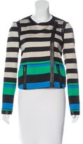 Diane von Furstenberg Cropped Leather-Trimmed Jacket