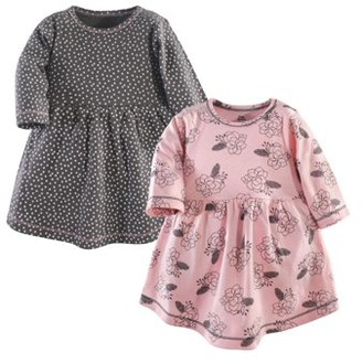 Yoga Sprout Baby Girl Long Sleeve Dresses, 2-pack