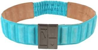 Fendi Blue Suede Belts