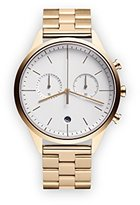 Uniform Wares C39 Quartz Watch with Grey Chronograph Dial with Gold Stainless Steel Strap