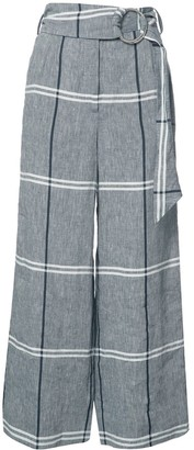 Suno plaid cropped trousers