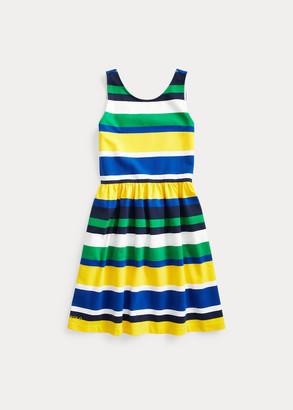 Ralph Lauren Striped Stretch Jersey Dress
