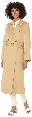 Cupcakes And Cashmere Melody Lyocell Trench w/ Belt (Army Tan) Women's Clothing