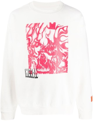 Heron Preston Skull Print Sweater