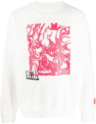 Heron Preston Skull Print Sweatshirt