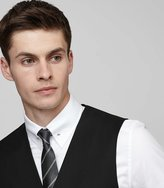 Reiss Harry W - Modern-fit Wool Waistcoat in Black, Mens