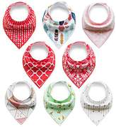 Baby Bib Rarity Bandana Drool Bibs (4/8/12/16/20packs)Cotton Drool Bib for Teething Toddlers Infants Babies,Infant Toddler Unisex Baby 100% Cotton Bandana Drool Bibs Set