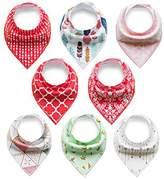 Baby Bib Rarity Bandana Drool Bibs Cotton Drool Bib for Teething Toddlers Infants Babies,Infant Toddler Unisex Baby 100% Cotton Bandana Drool Bibs Set (4packs,8packs,12packs,16packs)