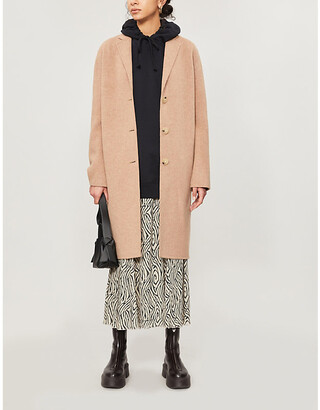 Acne Studios Notch-lapel oversized-fit wool coat