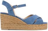 Castaner wedged denim sandals - women - Cotton/Leather/rubber - 35