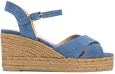 Castaner wedged denim sandals - women - Cotton/Leather/rubber - 36