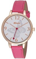 Ravel Fashion Women's Quartz Watch with Multicolour Rose Gold Butterfly Dial Analogue Display and Pink Plastic Strap R0128.15.2