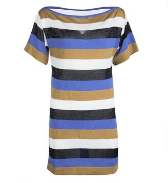 M Missoni Colorblock Striped Knit Strip Back Detail Top M