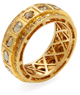 Artisan 18K Yellow Gold & 2.62 Total Ct. Diamond Eternity Band Ring