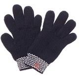 Petit Bateau Navy Gants Wool-blend Gloves.