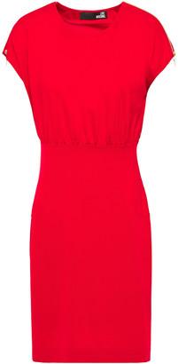 Love Moschino Gathered Zip-detailed Ponte Mini Dress