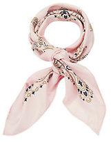 Manipuri Bandana Print Pink Silk Square Scarf