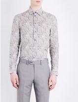 Armani Collezioni Floral pure linen shirt