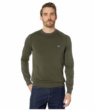 Lacoste Mens Long Sleeve Jersey Classic Semi Fancy Sweater Sweater