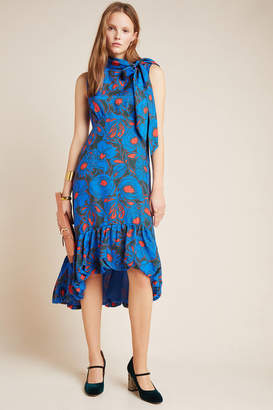 Tracy Reese Hope For Flowers By Evangeline Tie-Neck Midi Dress
