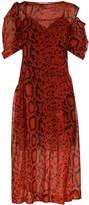 Preen by Thornton Bregazzi Franny snake-effect printed dress
