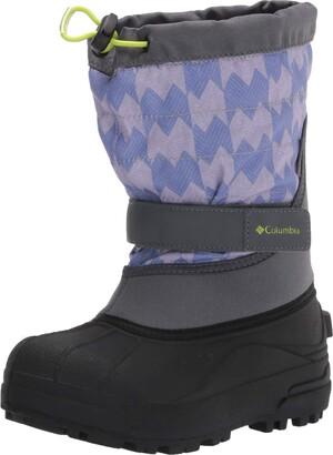 Columbia Youth Powderbug Plus II Print Snow Boot Waterproof Insulated