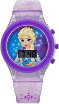 Character Frozen Girls Purple Strap Watch-Fzn3903jc