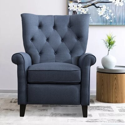 """Thumbnail for your product : Red Barrel Studio Hefin 35"""" Wide Manual Wing Chair Recliner"""