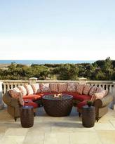 Hemingway Outdoor Cinnamon Crescent Wedges, Set of 6