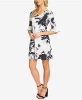 CeCe Romantic Bloom Bell-Sleeve Dress