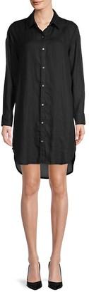 James Perse High-Low Linen Shirtdress