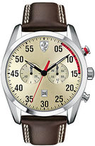 Ferrari Mens Scuderia D50 Stainless Steel Leather Strap Watch