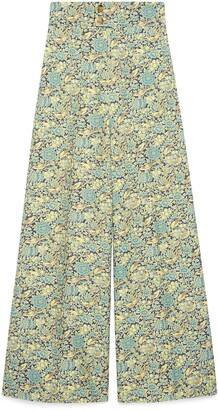 Gucci Liberty floral wool wide pant