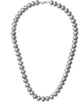 Kenneth Jay Lane CZ by Gray Pearl Necklace