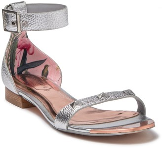 Ted Baker Oveyn Leather Studded Ankle Strap Sandal
