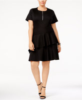 NY Collection Plus Size Fit and Flare Tiered Dress
